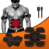 brinymo sport Muscle Toner Abdominal Toning Belt Workouts Fitness Portable AB Machine EMS Training for Abdomen/Arm/Leg Training (USB Fitness Apparatus)
