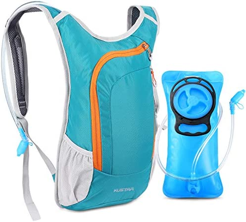 KUSTAR Hydration Pack,Hydration Backpack with 2L Leak-Proof Water Bladder BPA Free – Lightweight Water Pack for Running Cycling Hiking Climbing