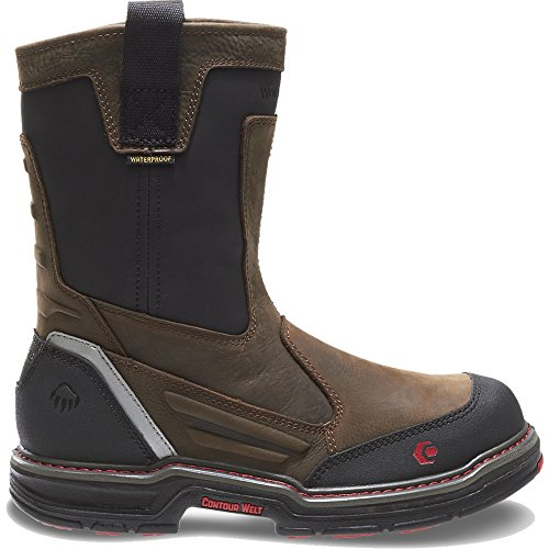 Wolverine Overman Waterproof CarbonMax Wellington Men 11 Brown/Black
