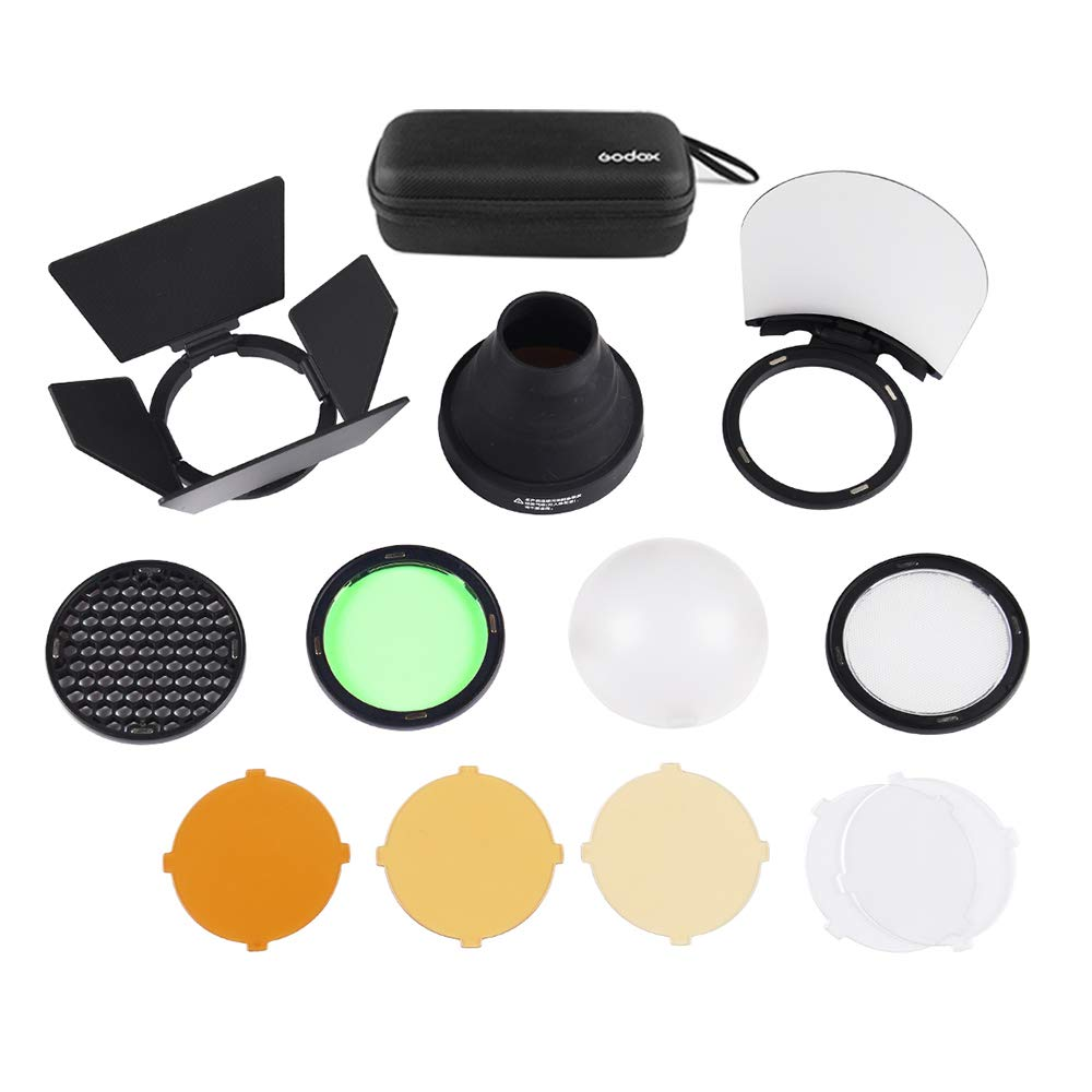 Godox AK-R1 Super Accessory Kit Honeycomb Snoot Diffuser and Filters Compatible AD200 H200R Camera Portable Flash by Godox