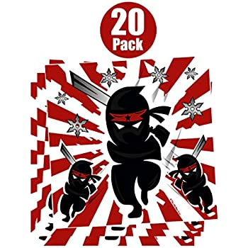 Amazon.com: Action Packed Ninja Treat y fiesta de cumpleaños ...