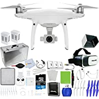 DJI Phantom 4 Pro Quadcopter + Xtreme VR Vue II (For iPhone/Android Screen Size 3.5-6) + 2 Intelligent Flight Battery (5350mAh) + Hard-Shell Aluminum Case + Multi-Charger Hub + Sunshade Hood & More!
