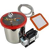 zinnor 5 Gallon Vacuum Degassing Chamber Kit with 3 CFM Pump Hose