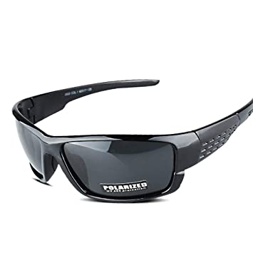 STARSHINE Nueva Marca Negro Deporte Gafas de Sol polarizadas ...