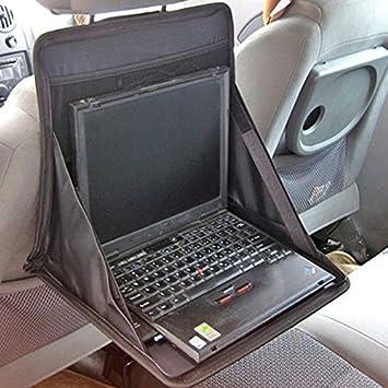 Hrph Coche plegable del sostenedor del ordenador portátil de múltiples funciones del asiento trasero de la tabla del cuaderno organizador portátil: ...
