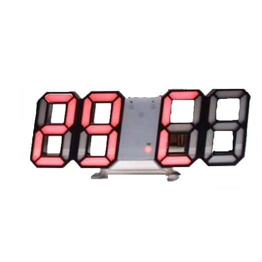 Keptei Reloj Digital con Alarma Reloj Despertador Mesa de Pared ...