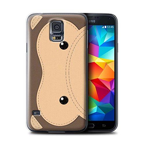 Coque de Stuff4 / Coque pour Samsung Galaxy S5/SV / Singe Design / Cousu des Animaux Effet Collection