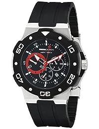 Momo Design Men's Tempest MD1004-01BKRD-RB Analog Display Swiss Quartz Black Watch