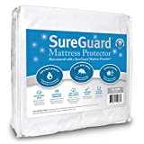 Waterproof Mattress Protector - SureGuard Mattress Protectors California King 100% Waterproof, Hypoallergenic - Premium Fitted Cotton Terry Cover - 10 Year Warranty
