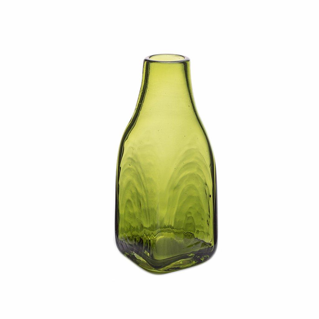 GAODUZI Vaso di Vetro idroponico della casa Creativo del Vaso di Vetro Snello verde Personalizzato (colore   A, Dimensioni   29  10cm)