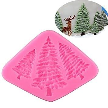 valink 3 agujero para árbol de Navidad con forma de molde de silicona decoración de pasteles