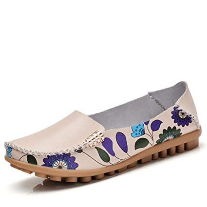 c34f71411bef Image Unavailable. Image not available for. Color  Dreamstar Women s Leather  Casual Shoes Women Flats ...
