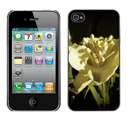 Premio Sottile Slim Cassa Custodia Case Cover Shell // F00013899 une fleur // Apple iPhone 4 4S 4G