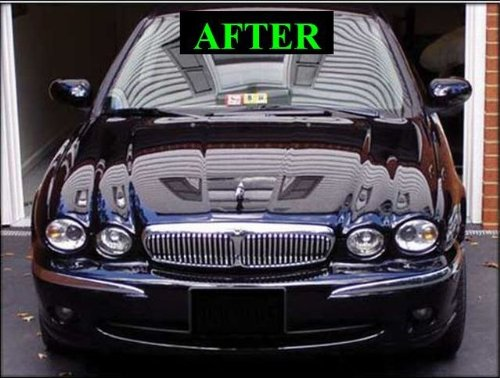 Image of 312 Motoring fits 2002-2006 Jaguar X-Type X Type Chrome Grill Grille