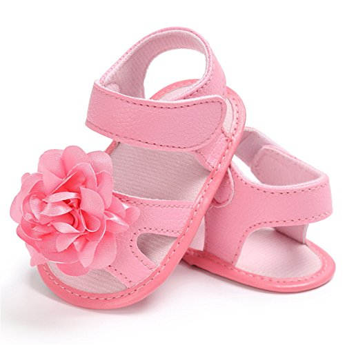 BENHERO Infant Baby Girls Flower Anti-Slip Rubber Sole Prewalker Toddler Sandals (13cm(12-18Months), ()