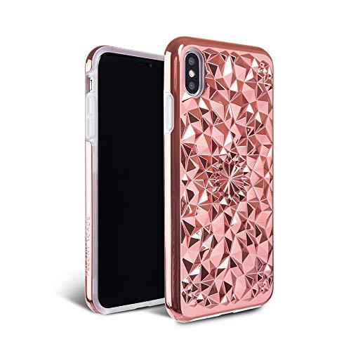 iPhone Xs Max Case - FELONY CASE - Rose Gold Kaleidoscope CASE - 3D Geometric 360° Shock Absorbing Protective iPhone Xs Max Case Protects Screen & iPhone Xs Max (Rose - Kaleidoscope Rose