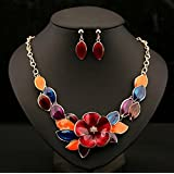 style8 colours - Women Fashion Pendant Crystal Flower Choker Chunky Statement Chain Bib Necklace