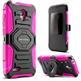 Evocel Alcatel OneTouch Conquest Case [New Generation] Rugged Holster Dual Layer Case [Kickstand][Belt Swivel Clip] For Alcatel OneTouch Conquest 7046T, Pink (EVO-AL7046T-XX05)