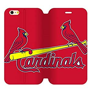St. Louis Cardinals Back Design for 5.5 inch Screen iPhone 6 Plus Diary Leather Case-by Allthingsbasketball