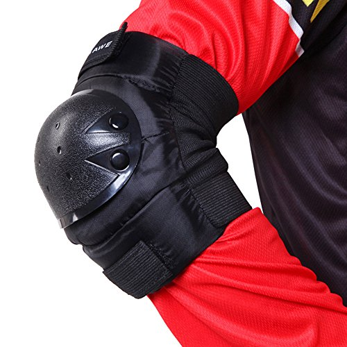 TOPSHION One Pair Cycling Elbow Pads Wrist Guards Outdoor Sports Elbow Wrist Protective Gear Pads Safety Gear Pad for Adult by Topshion