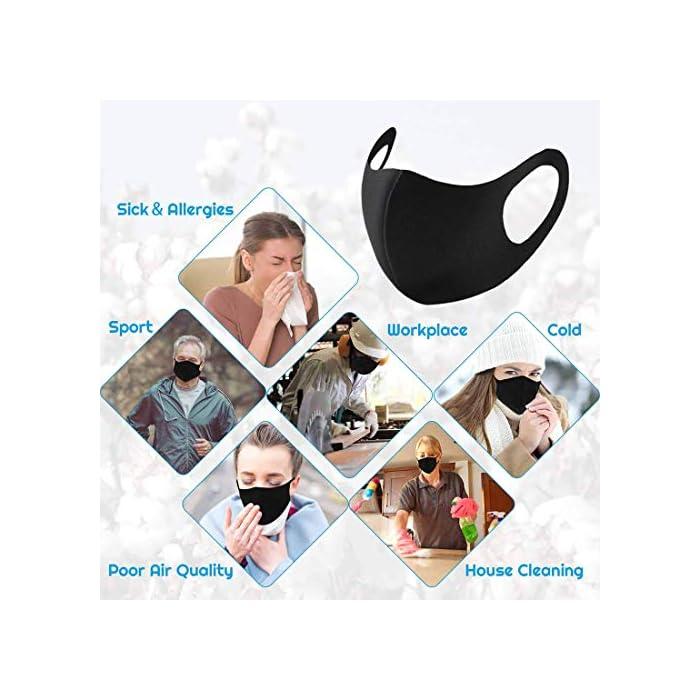 510UYH57YAL (Entrega por Royal Mail dentro de 5 a 15 días desde LILITRADE, otros vendedores son falsificaciones). Protección integral: el filtro de 4 capas puede eliminar partículas no aceitosas en el aire, incluyendo el polvo y otras partículas a base de aceite. Ideal para correr, ciclismo y otras actividades al aire libre. Transpirable y elástico: la máscara facial está hecha de polímero orgánico de alta calidad, agradable al tacto, suave y transpirable, diseño 3D, con elástico, elástico, elástico, cómodo de guardar. Antipolvo reutilizable: nuestra cubierta antipolvo para niños adultos con una estructura de filtro de malla 3D única que bloquea el 99% del polvo. Protege eficazmente a ti y a tus hijos del polen, alergias, pelo de mascotas, gases de niebla y viento y humo.