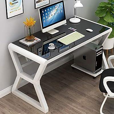 YQ WHJB Vidrio del escritorio del ordenador, L simple ordenador de ...