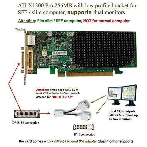 Dell ATI Radeon X1300 Pro 256MB PCI-E Low Profile Video Card JJ461 by Dell