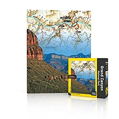 New York Puzzle Company - National Geographic Grand Canyon - 100 Piece Jigsaw Puzzle: Toys & Games