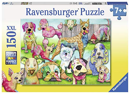 Ravensburger Patchwork Pups 150 Piece Jigsaw Puzzle for Kids - Every Piece is Unique, Pieces Fit Together ()