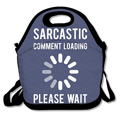 Sarcastic Comment Loading Reusable Ziplock Crossbody Picnic Bag Design For Office Portable Lunch Box Cooler Back To School Lunch Bag Lunch Tote Bag Box For For Women,Adults,Boys Girls
