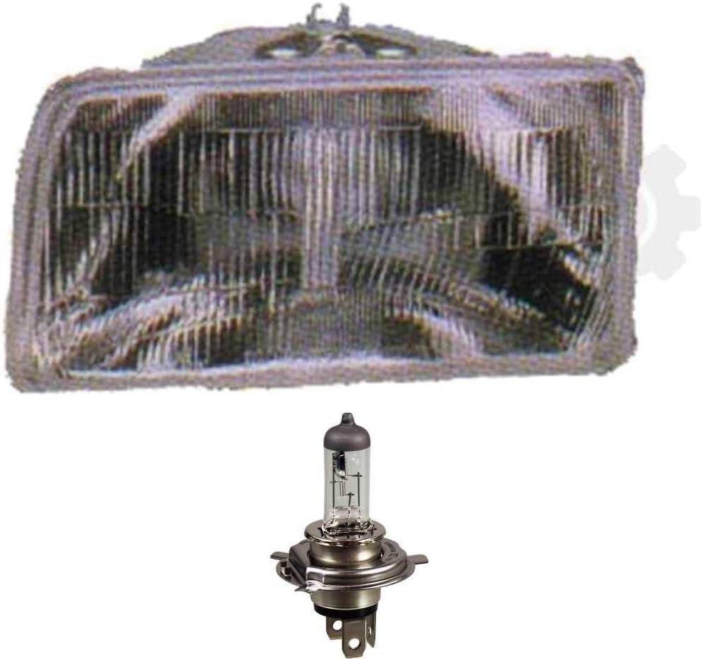Halogen Scheinwerfer links Fiesta 87-88 H4 ohne Motor inkl Lampen