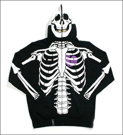 Amazon Com Lrg Dead Serious Skeleton Hoodie Black Everything Else