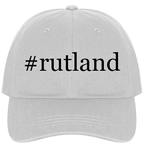 The Town Butler #Rutland - A Nice Comfortable Adjustable Hashtag Dad Hat Cap, White
