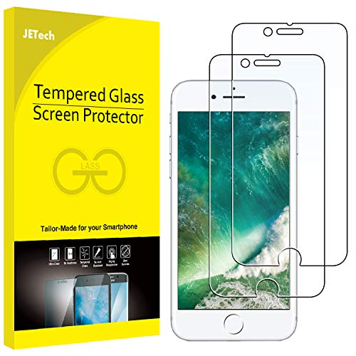 510UZToSGyL - JETech Screen Protector for Apple iPhone 8 and iPhone 7, 4.7-Inch, Tempered Glass Film, 2-Pack
