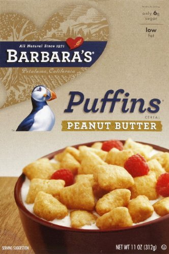 Barbara's Bakery Peanut Butter Puffins Cereal, 11-Ounce Box(Pack of ()