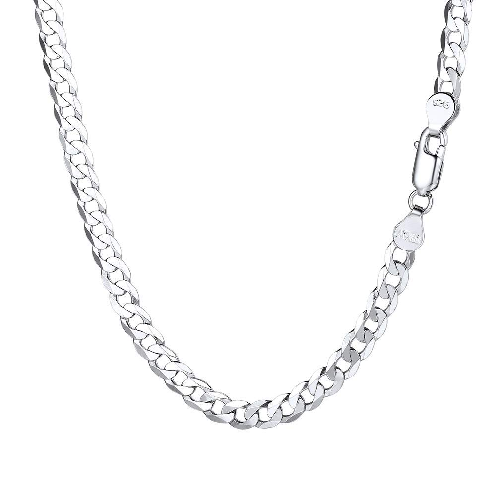 PROSTEEL Mens Silver Cuban Chain Necklace 2.8//5 MM Width,14//18//20//22//24//26//28//30 inches- Send Gift Box Custom Available