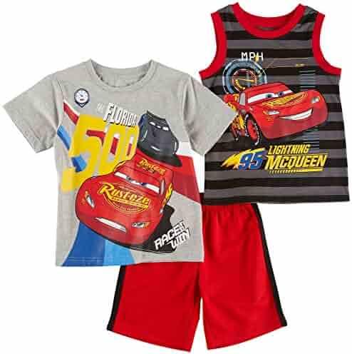 Disney Baby Boys' Cars 3 Piece Short Set