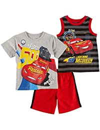 Baby Boys' Cars 3 Piece Short Set
