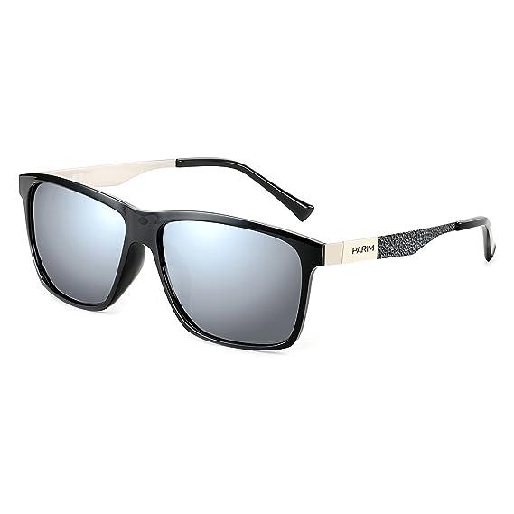 e2caf462e0 PARIM Mirrored Polarized   UV Protected Men s Rectangular Wayfarer  Sunglasses