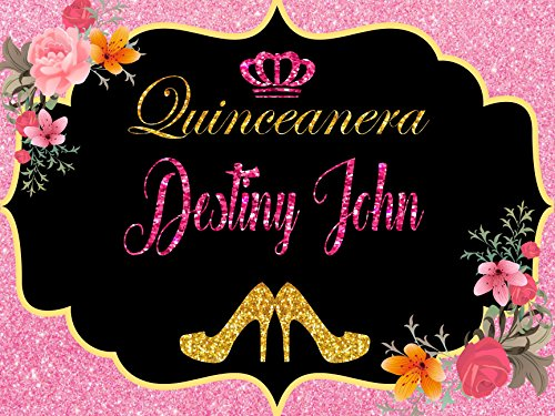 Custom Home Décor quinceanera banner – Size 24×36, 48×24, 48×36; Personalized Sweet 15, Sweet 16, Birthday, bachelorette, party decorations, Party Ban…