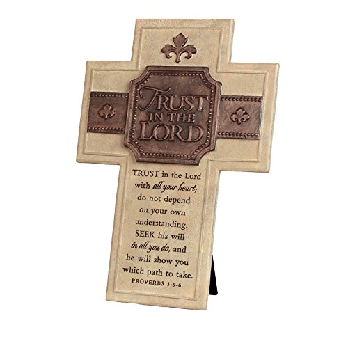Lighthouse Christian Products Trust in The Lord Wall Desktop Cross, 7 1 4 x 10