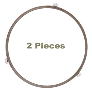 Microwave Oven Inner Dia Plate8. 7 Inch Tray Rotating Roller Ring for Glass Turntable Plate Tray(2Pcs/Brown)