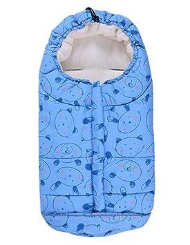 Saco de dormir para bebé, impermeable, para niños y niños, con asiento de coche de invierno (0-6 meses): Amazon.es: Bebé