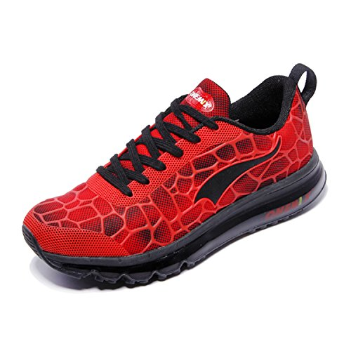 Onemix Men Lightweight Mesh Air Cushion Outdoor Sport Running Shoes Red / Black