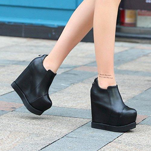 XiaoGao Un nuevo corto de 15 cm de alta zapatos de tacon de la bota en el otoño y el invierno