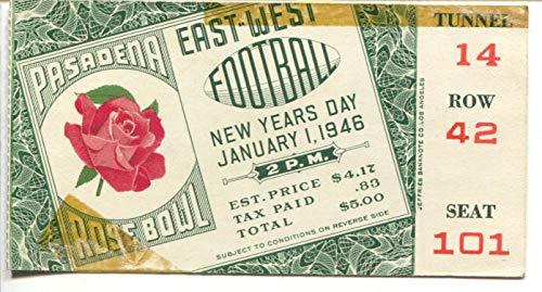 Rose Bowl NCAA Football Game Ticket Stub 1/1/1946-Rose Bowl-Seat #101-VG