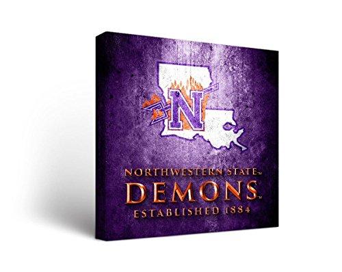 Victory Tailgate Northwestern State University of Louisiana Demons Canvas Wall Art Museum Design (12x12)