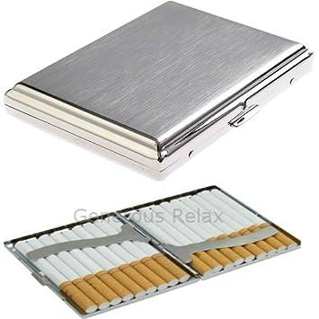 39d6735a2c22c Automatische Regular Größe Zigarettenetui Edelstahl für bis zu 20 Zigarette  (Zigarettenetui Uni Design)
