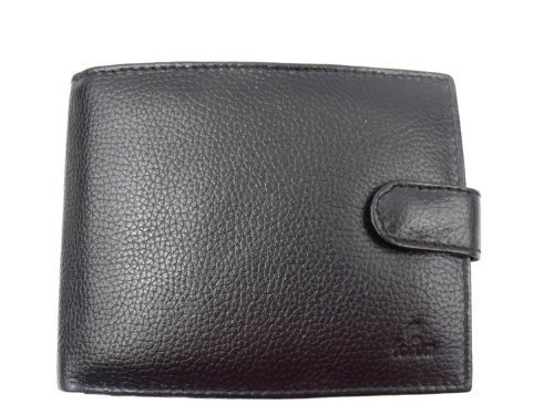 With Leather Leather Wallet Box Gift Leather Emporium Gift Mens Black Wallet Emporium Black With Box Mens Leather Leather RwwZASq