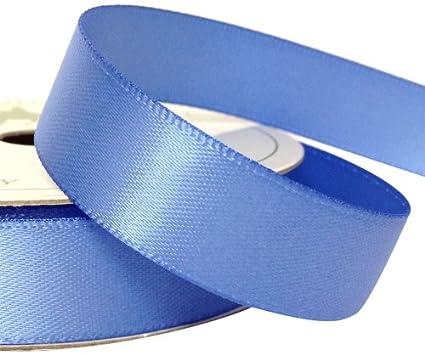 15mm Satin Ribbon Light Blue 7m Roll
